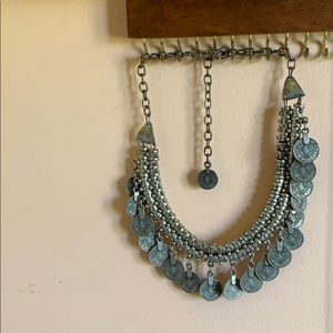 Urban Outfitters Silver Bib Necklace